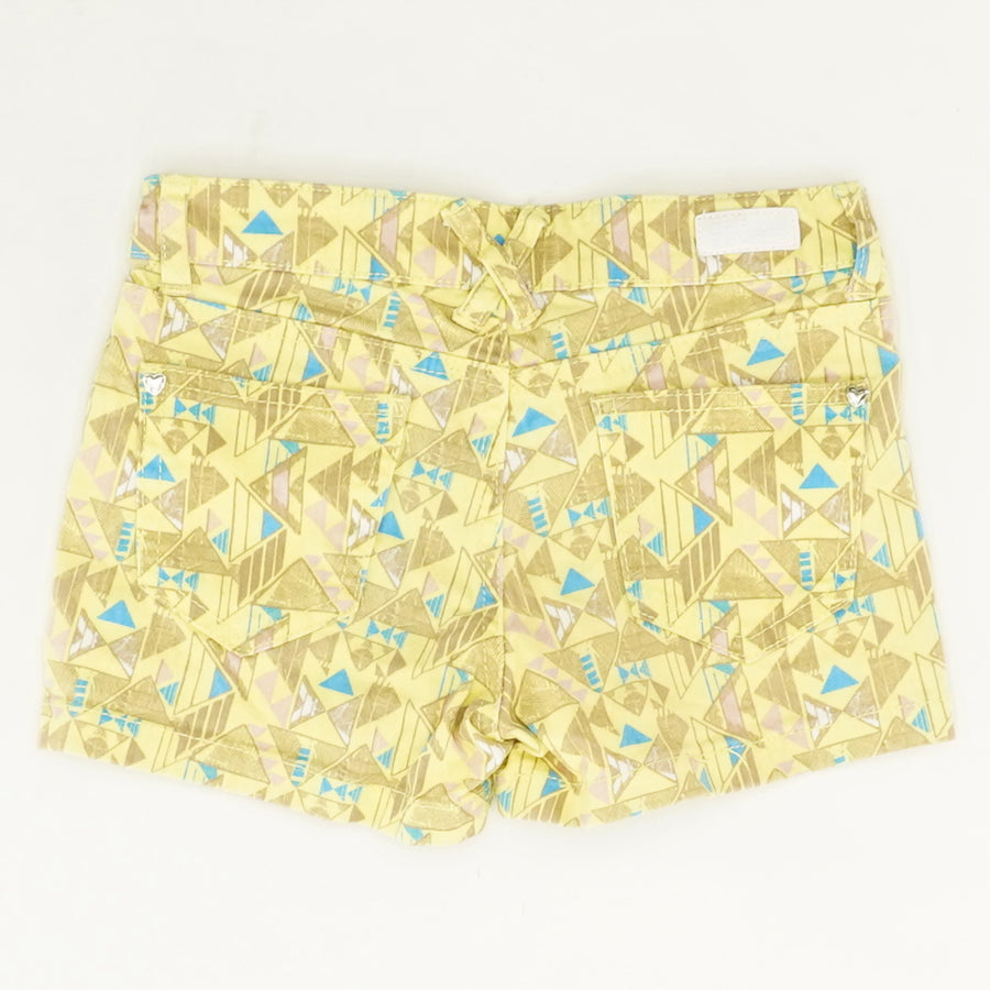 Patterned Yellow Shorts - Size 10