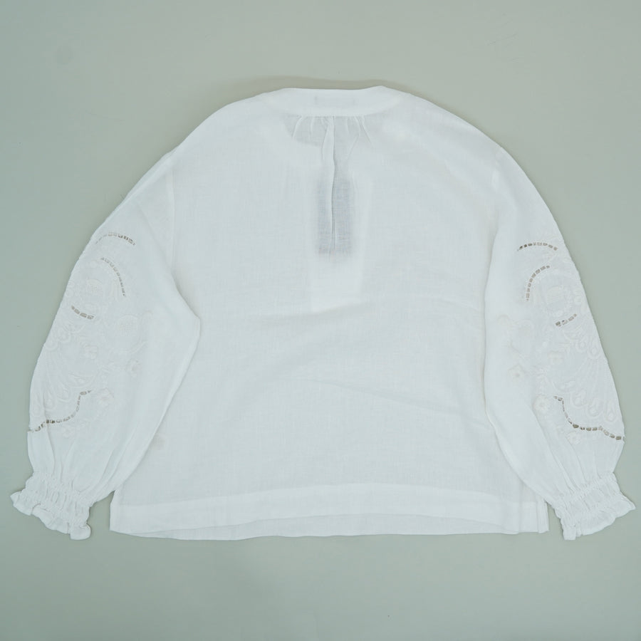 Poet Blouse In Bright White - Size XS, S