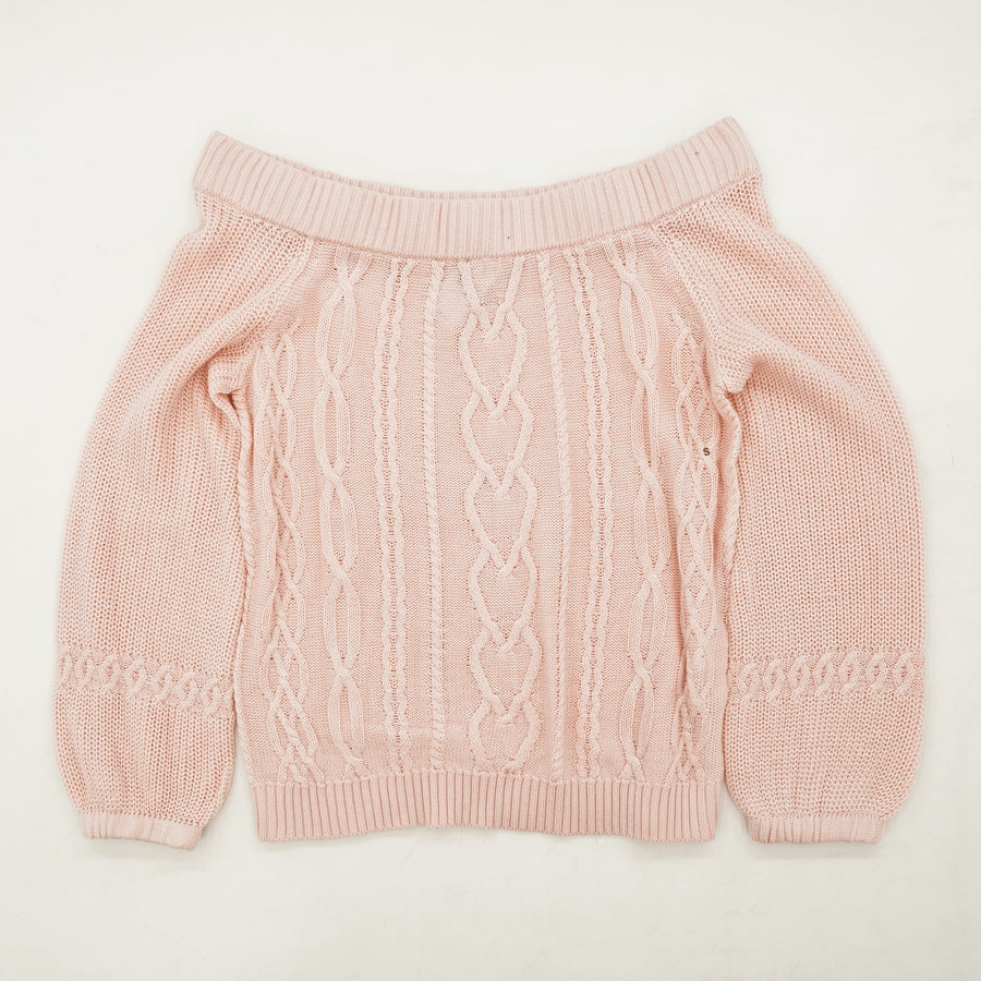 Pink Off The Shoulder Sweater Size S