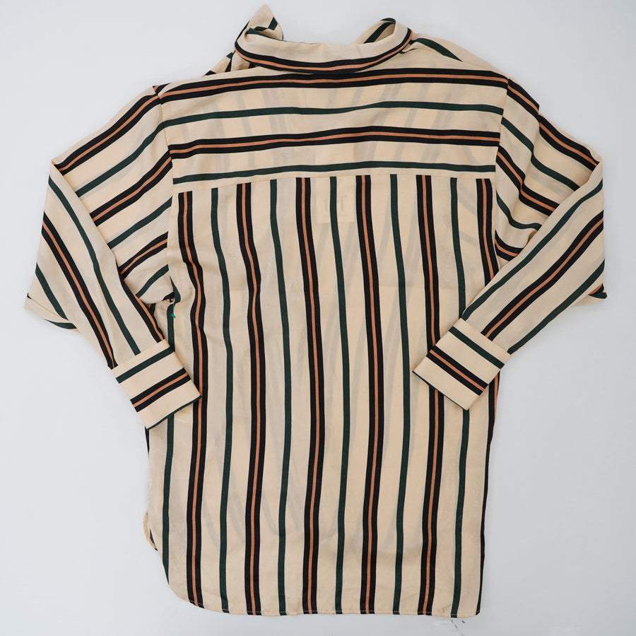 Striped Long Sleeve Button Down Shirt Size S