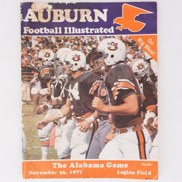 1977 Auburn Football Illustrated Vintage