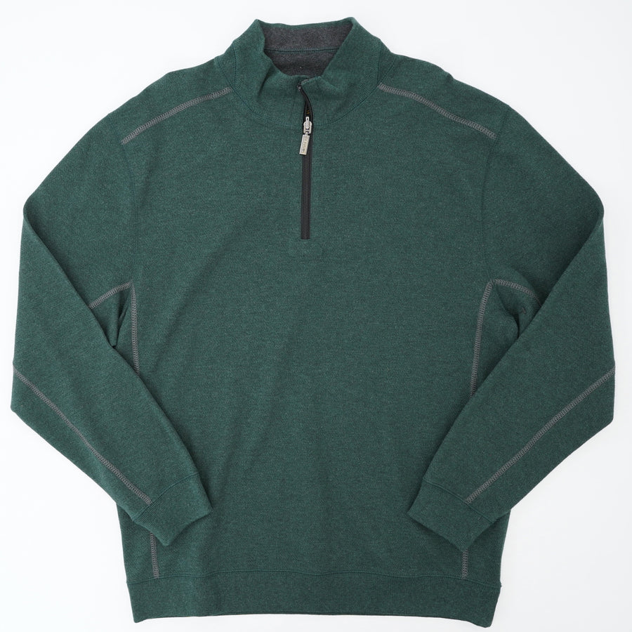 Quarter Zip Long Sleeve Pullover Size L