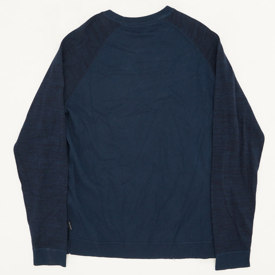 Long Sleeve Space Dyed Crew Neck