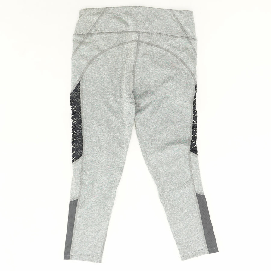 Heather Gray Leggings with Mesh Detail Size S-XL