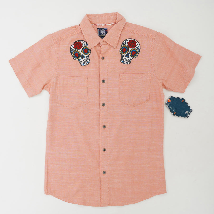 Chambray Shirt with Sugar Skull Patch