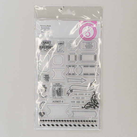 Memory Book Essentials Stamp Set