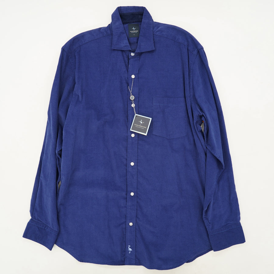French Blue Corduroy Button Down Shirt
