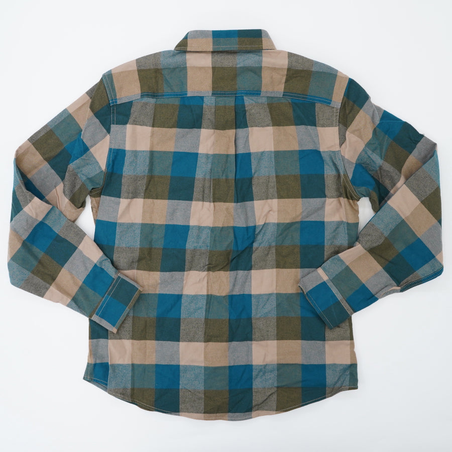 Checked Long Sleeve Button Up Size M