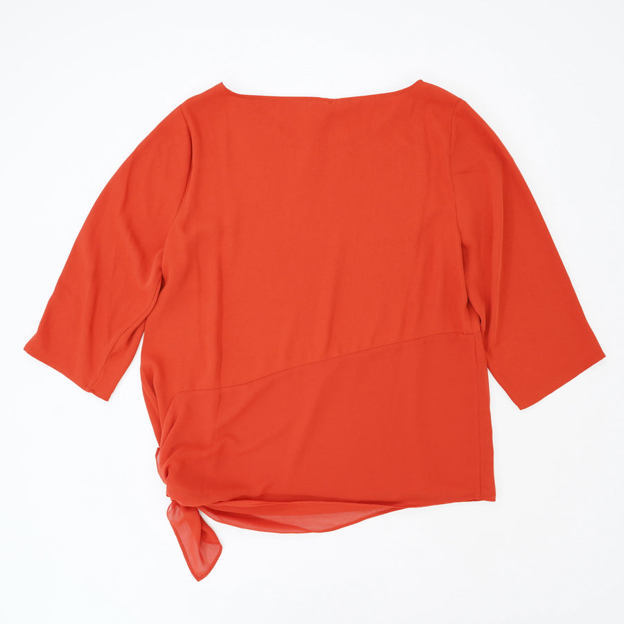Asymmetrical Tunic Top Orange Size 1