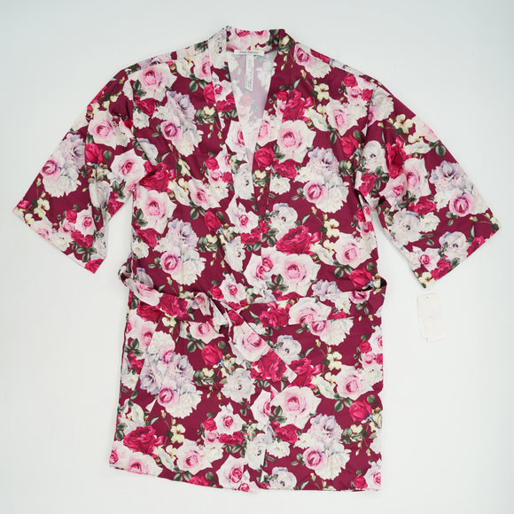 Floral Print Short Robe Size XS
