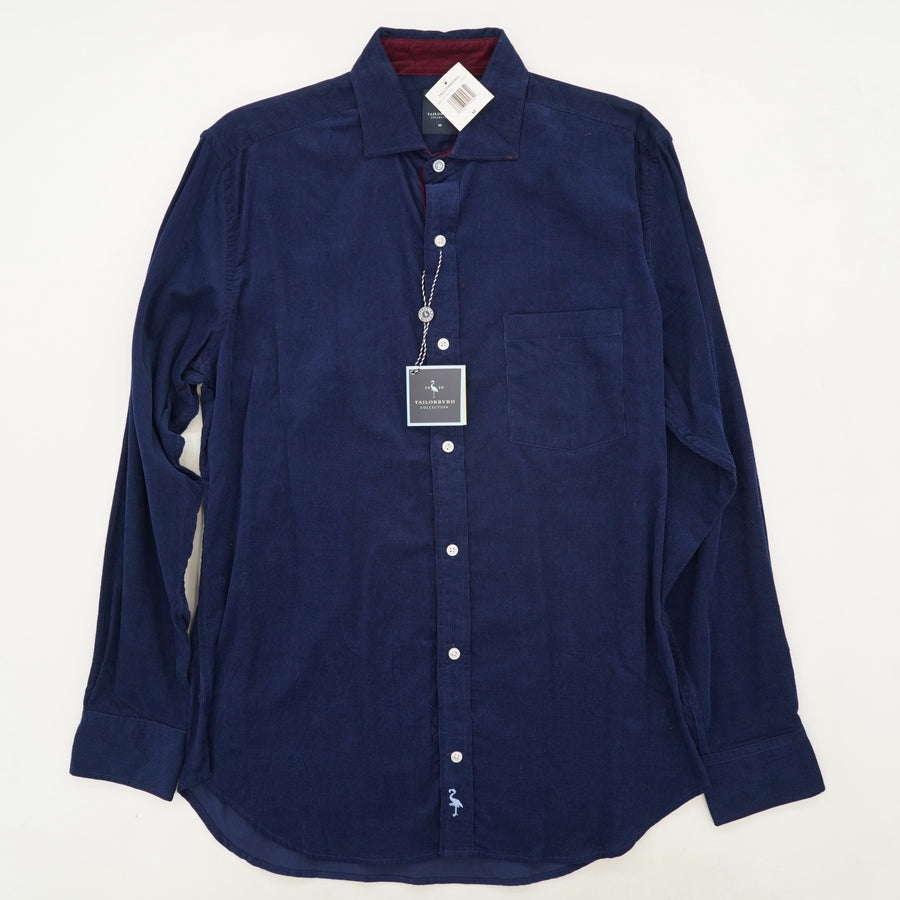 Navy Corduroy Button Down Shirt