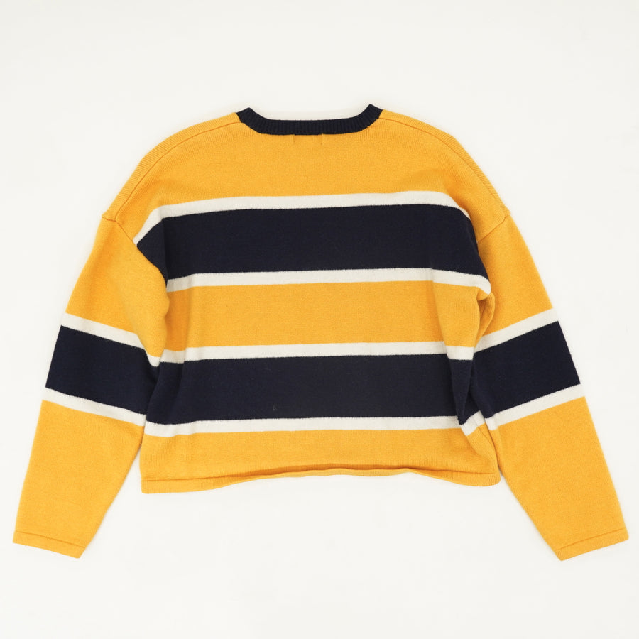 Cropped Striped Sweater Size M
