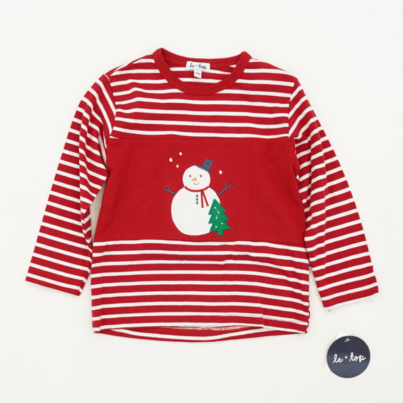 Striped Snowman Holiday Two Piece Set Size 24M