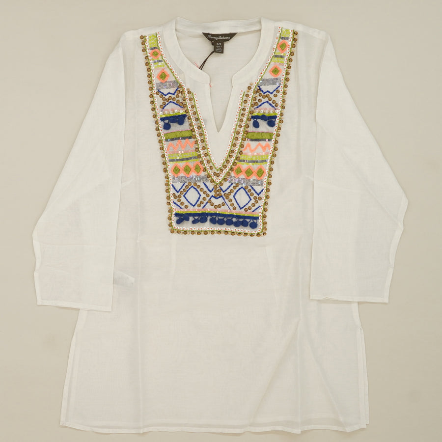 White Embroidered Blouse Size S/P