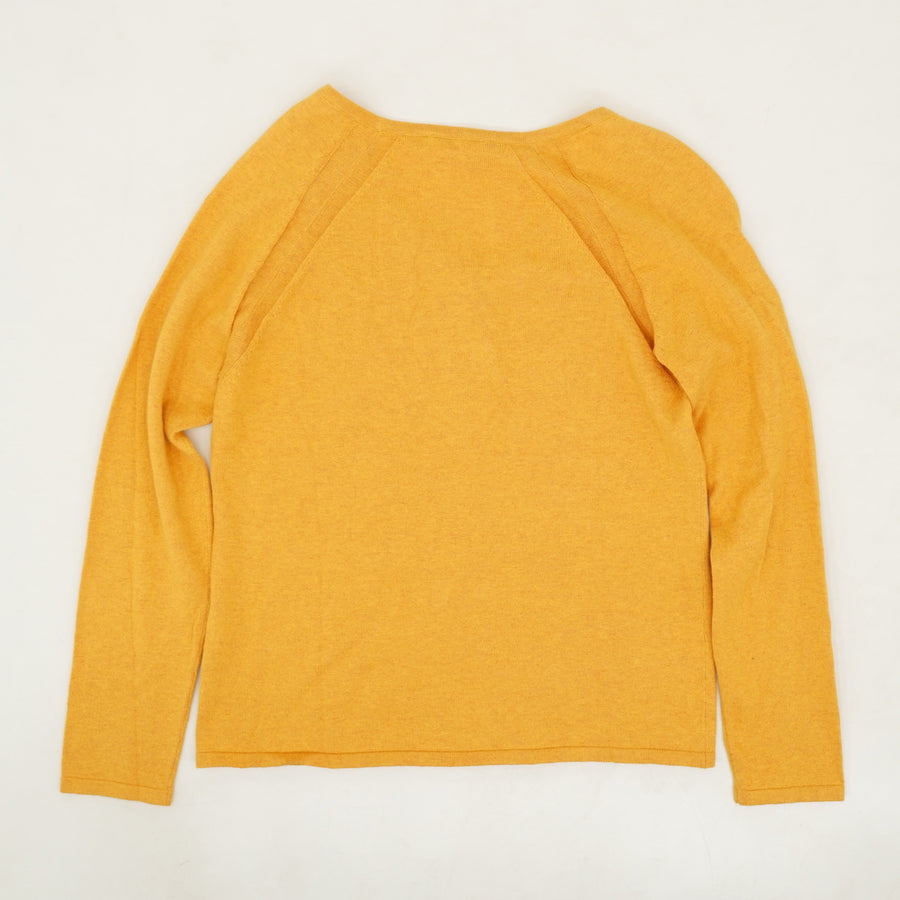 Yellow Henley Sweater - Size S