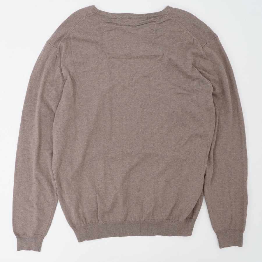 120 Years V-Neck Cashmere Blend Sweater - Size L-2XL