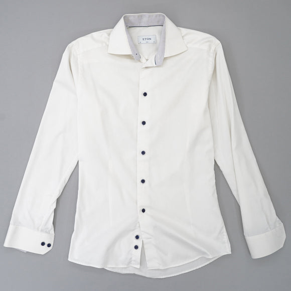 White Contemporary Button Down Shirt Size 15