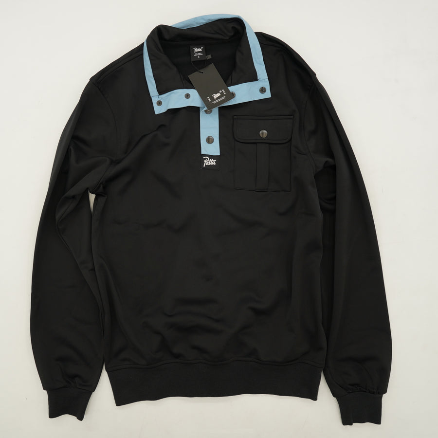 Blue Snap Collar Pullover Shirt - Size S