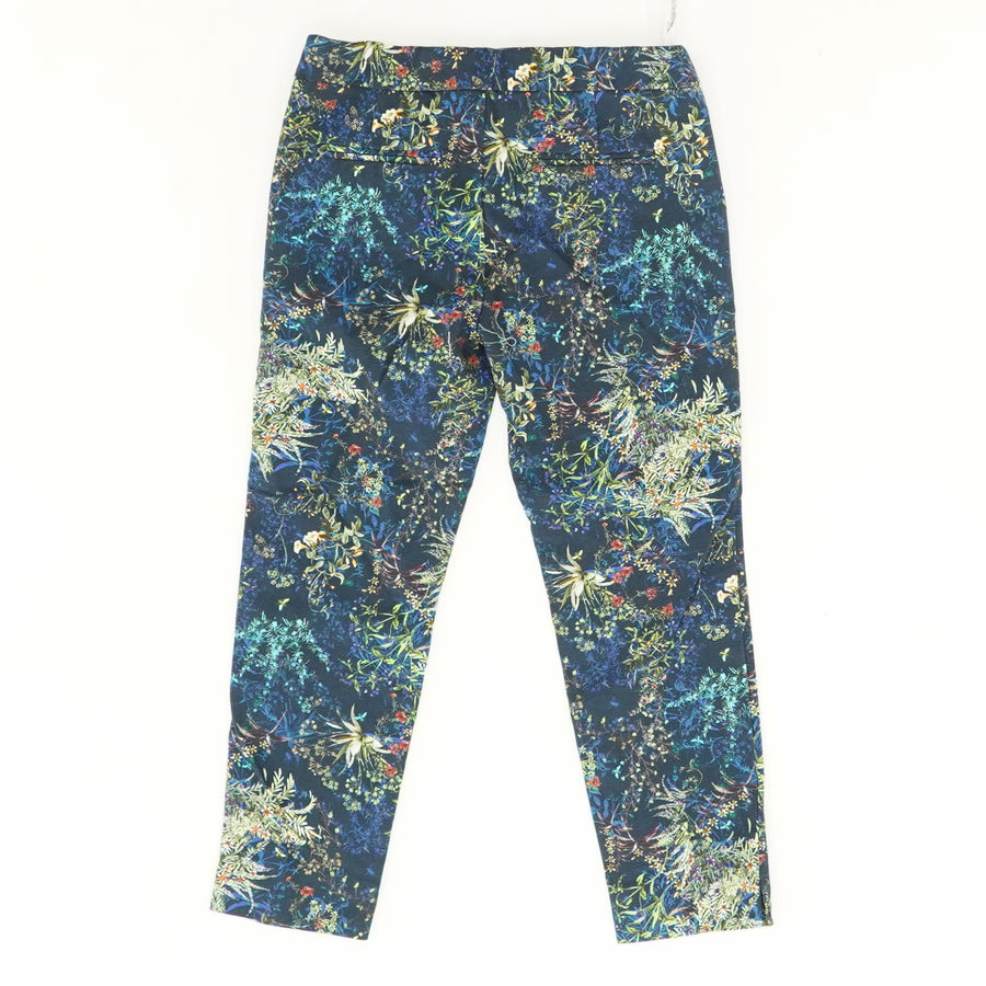 Navy Floral Cropped Pants - Size 7