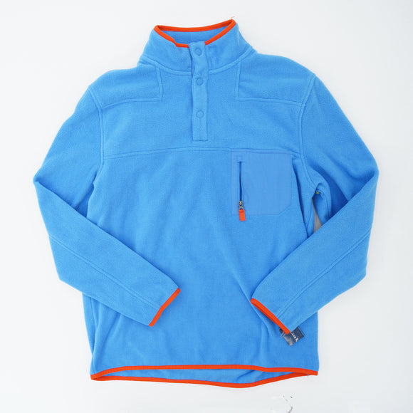 Quarter-Button Fleece Pullover Size M