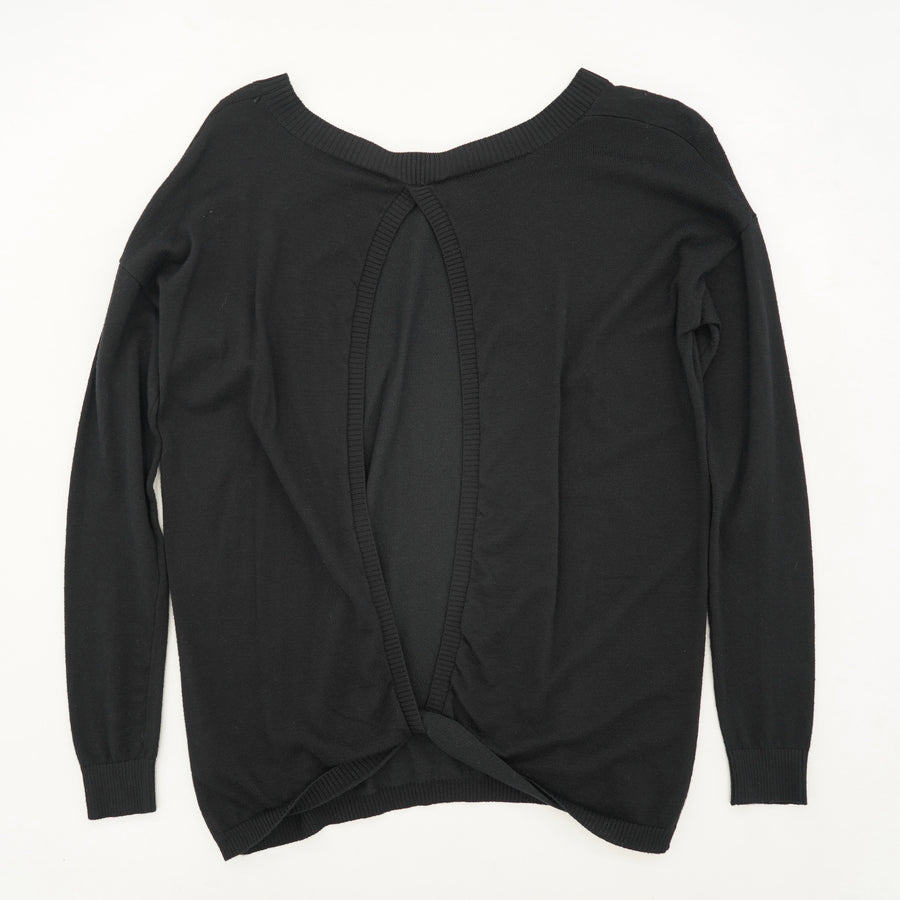 Black Open Back Sweater Size S