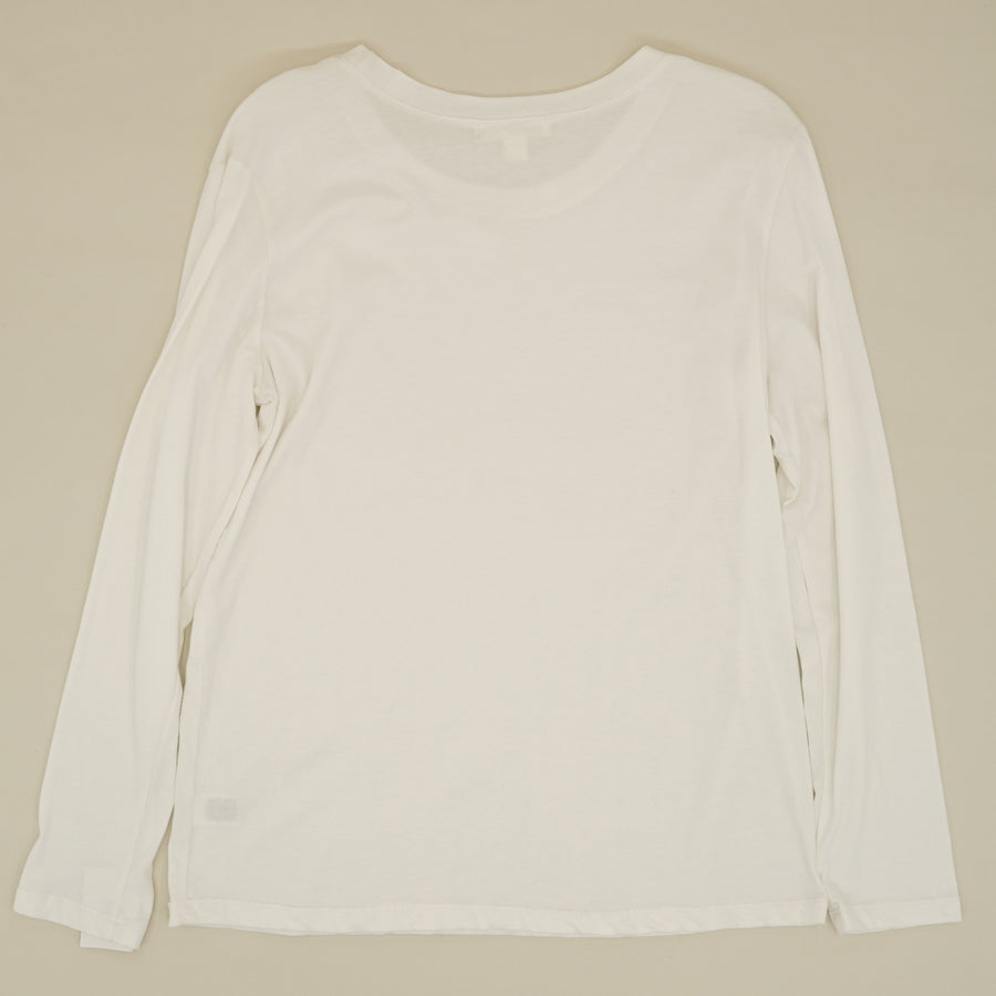 White Long Sleeve T-Shirt Size S