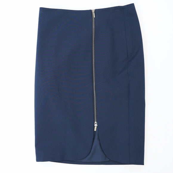 Navy Versatile Zip Pencil Skirt Size 2