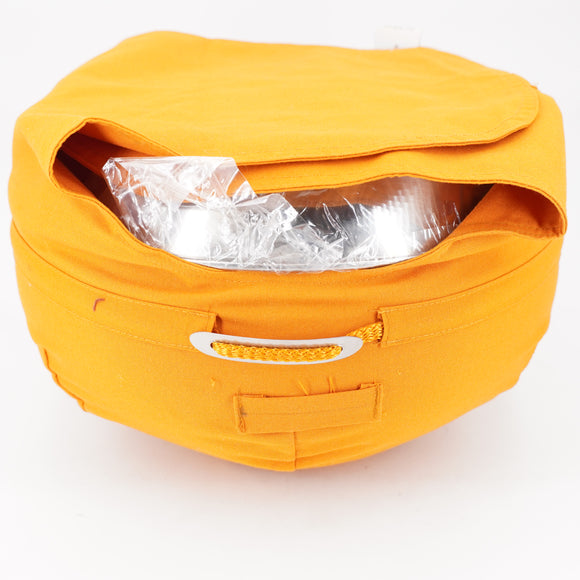 Pot With Lid And Yellow Carrying Case