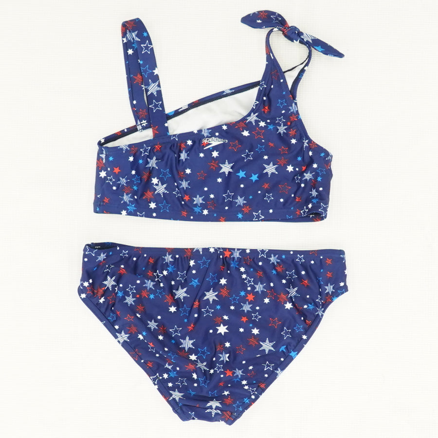 Female Print Tie Two-Piece Swimsuit Size 16
