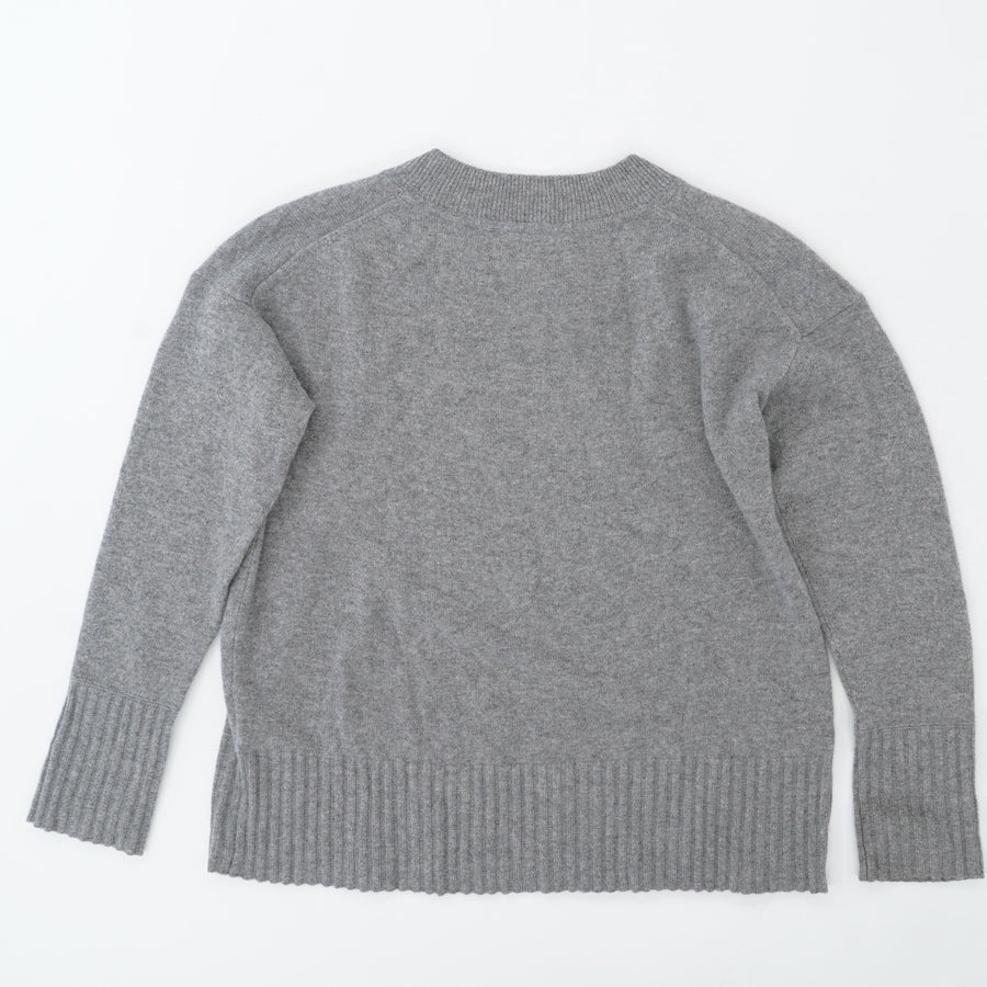 Classic Gray Crewneck Sweater Size S