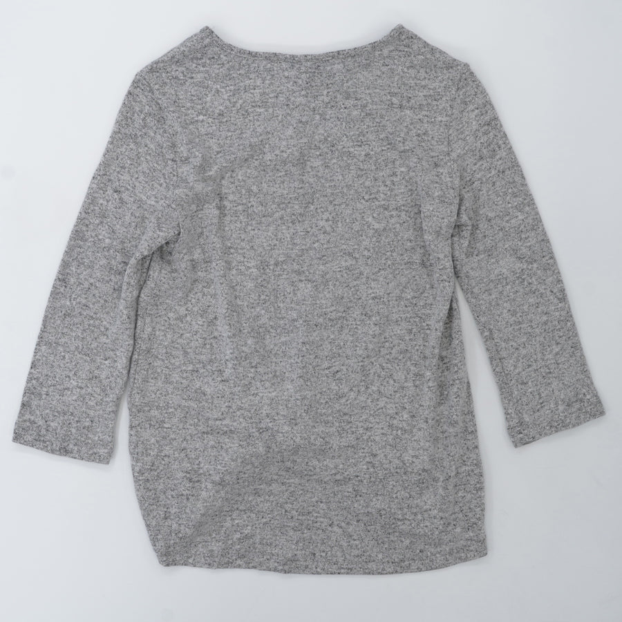 Twist Front Brushed Knit Top Size XS