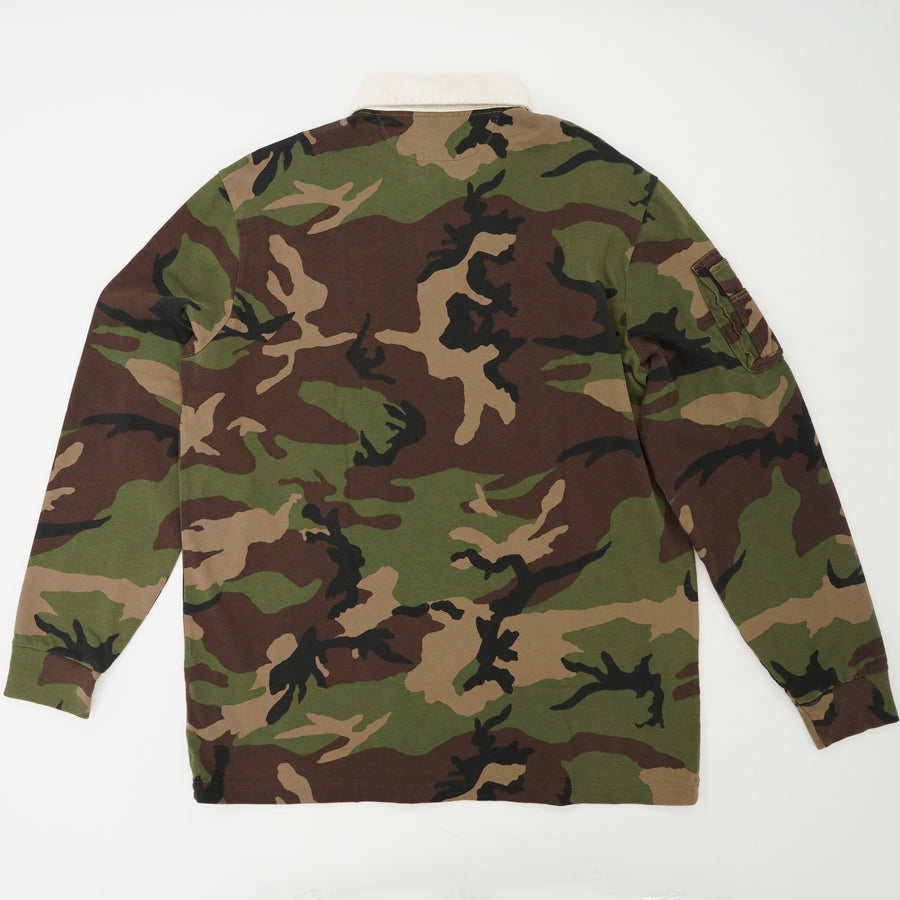 Long Sleeve Camo Rugby Size L