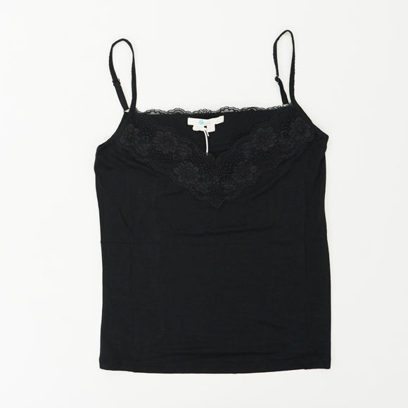 Stretchy Spaghetti Strap Embroidered Top Tank Size 4