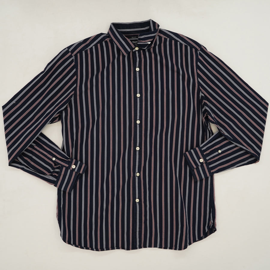 Slim Fit Button Up Shirt Size L