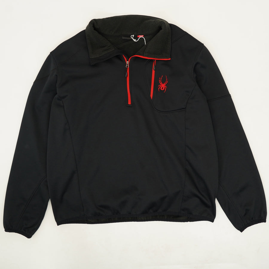 1/4-Zip Pullover With Red Detailing - Size XXL
