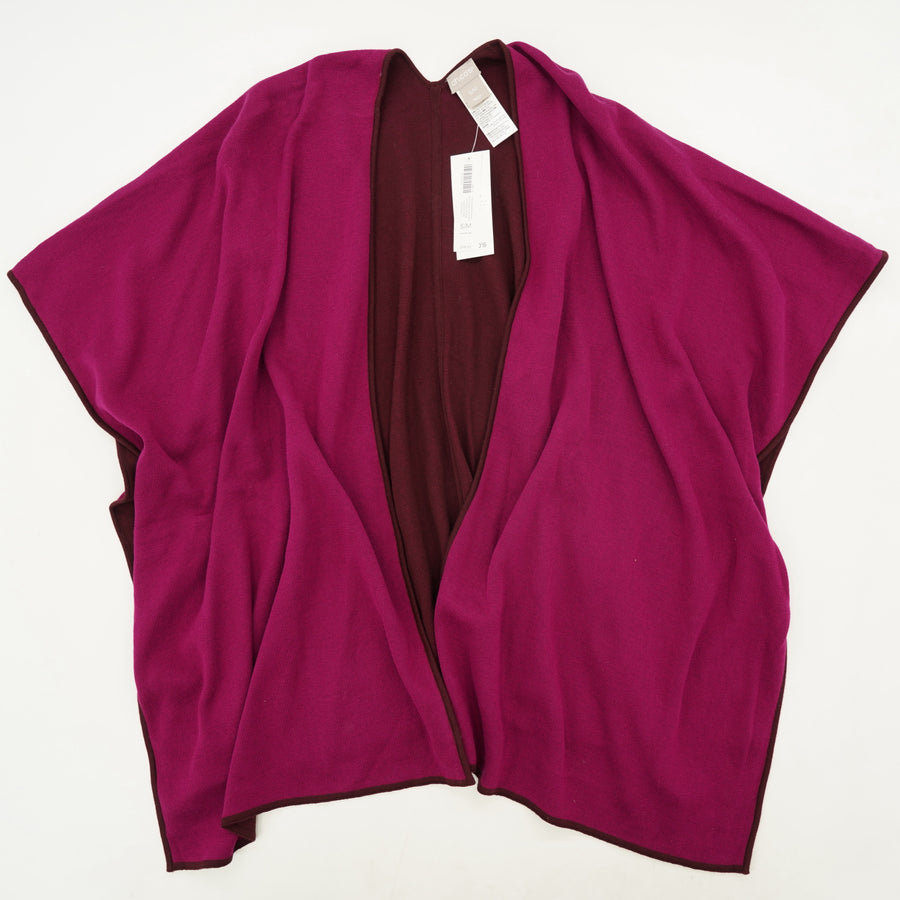 Pink Reversible Ruana Cardigan Size S