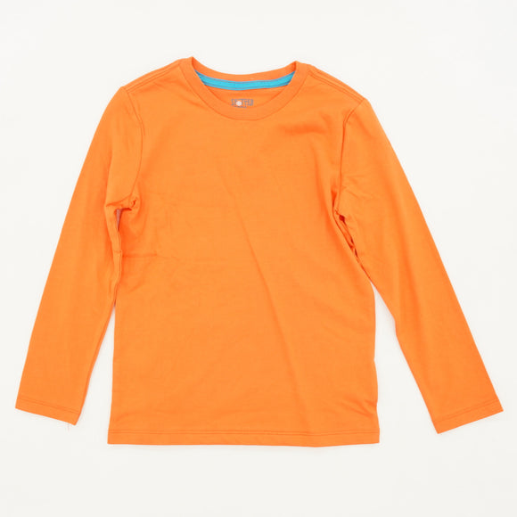 Orange Solid Long Sleeve Tee Size 4/5