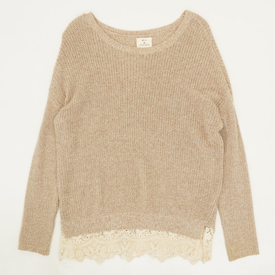 Lace Hem Sweater Size XS