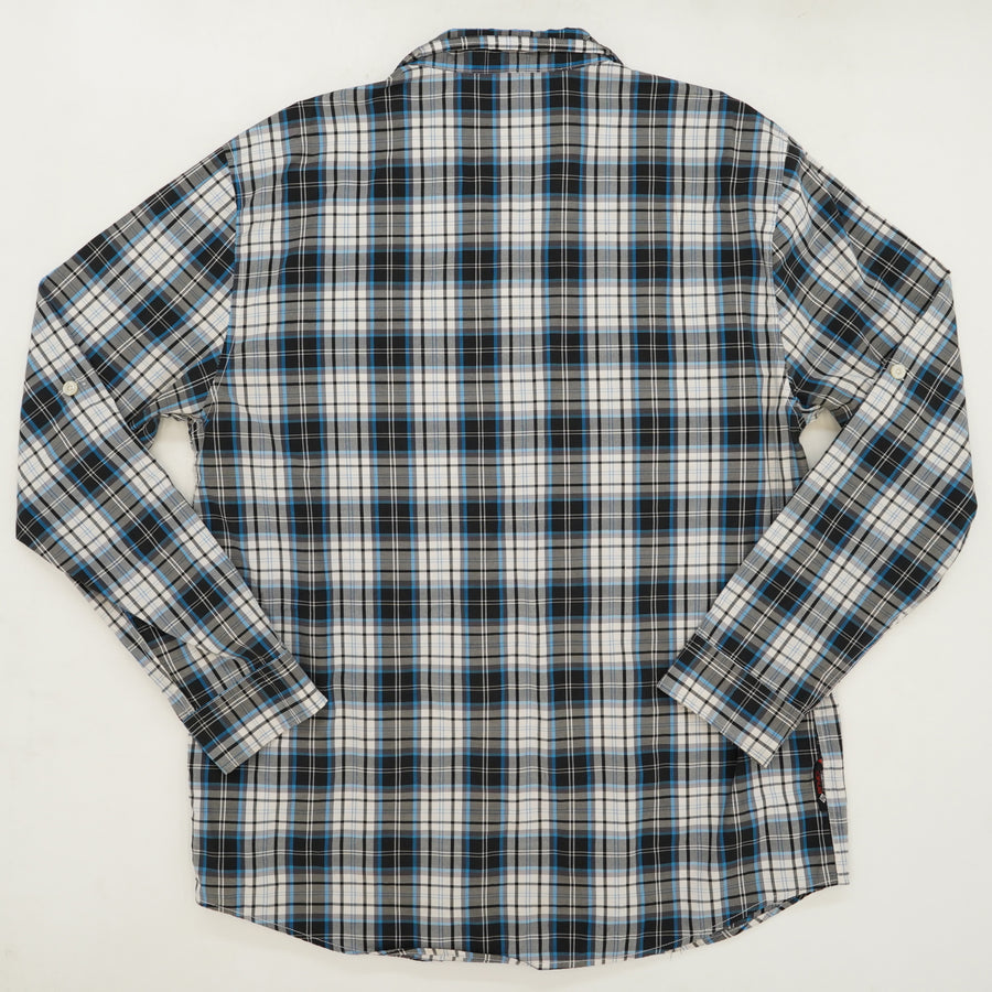 Blue/Black Plaid Button Down Size 4X