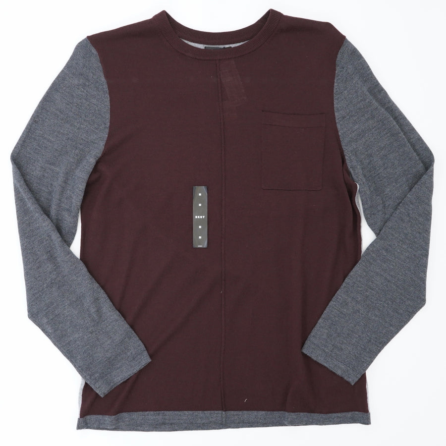 Deep Oxblood Raglan Sweater - Size M