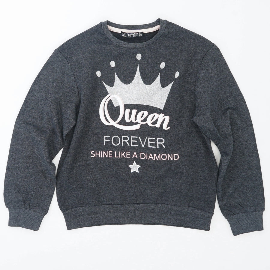 Queen Forever Long Sleeve Tee Size 8-9