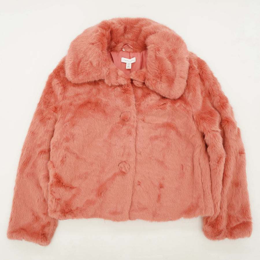 Faux-Fur Button Coat