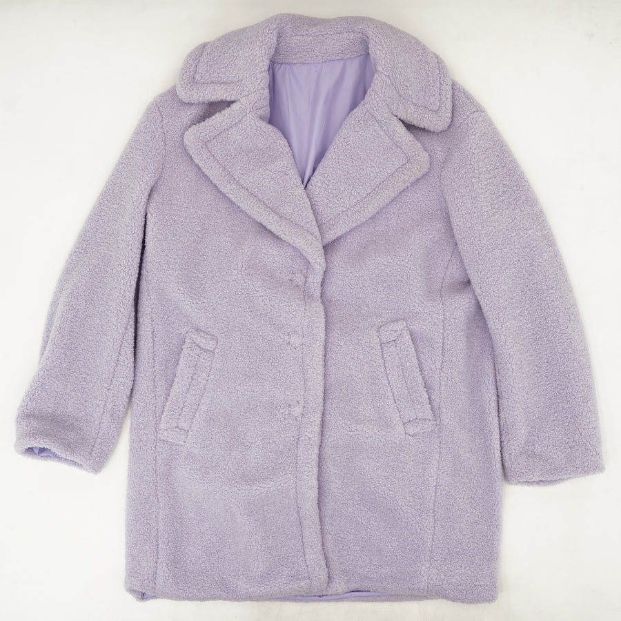 Reversible Collared Button-Up Jacket Size L