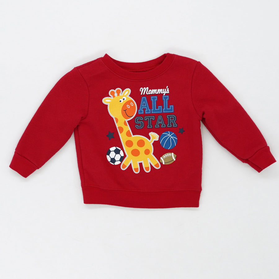 """Mommy's All Star"" Sweatshirt Size 12M"