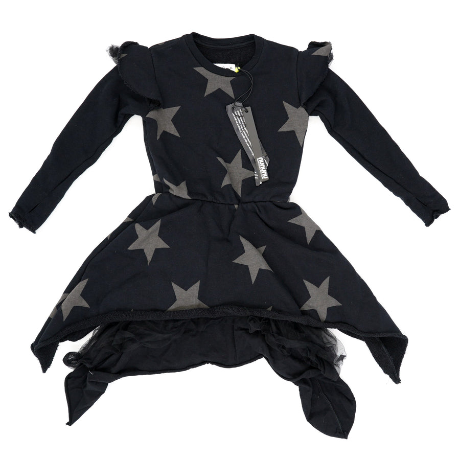 Ruffled Sleeve Star Dress Size 2-3