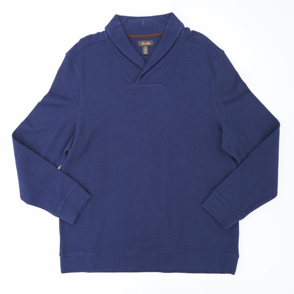 Navy Shawl Pullover Size XL