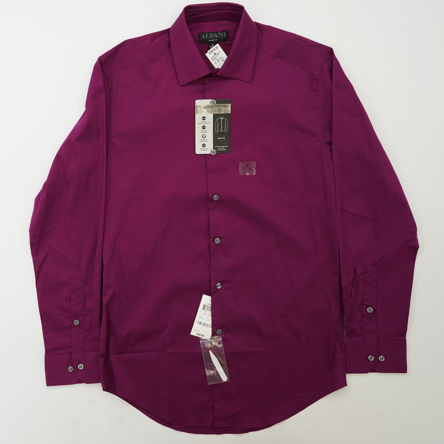 Slim Fit Long Sleeve Button Down Size S