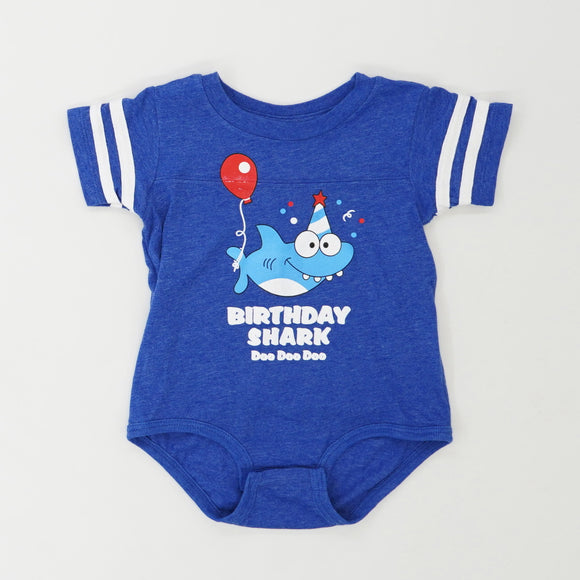 """Birthday Shark"" One Piece Size 18M"
