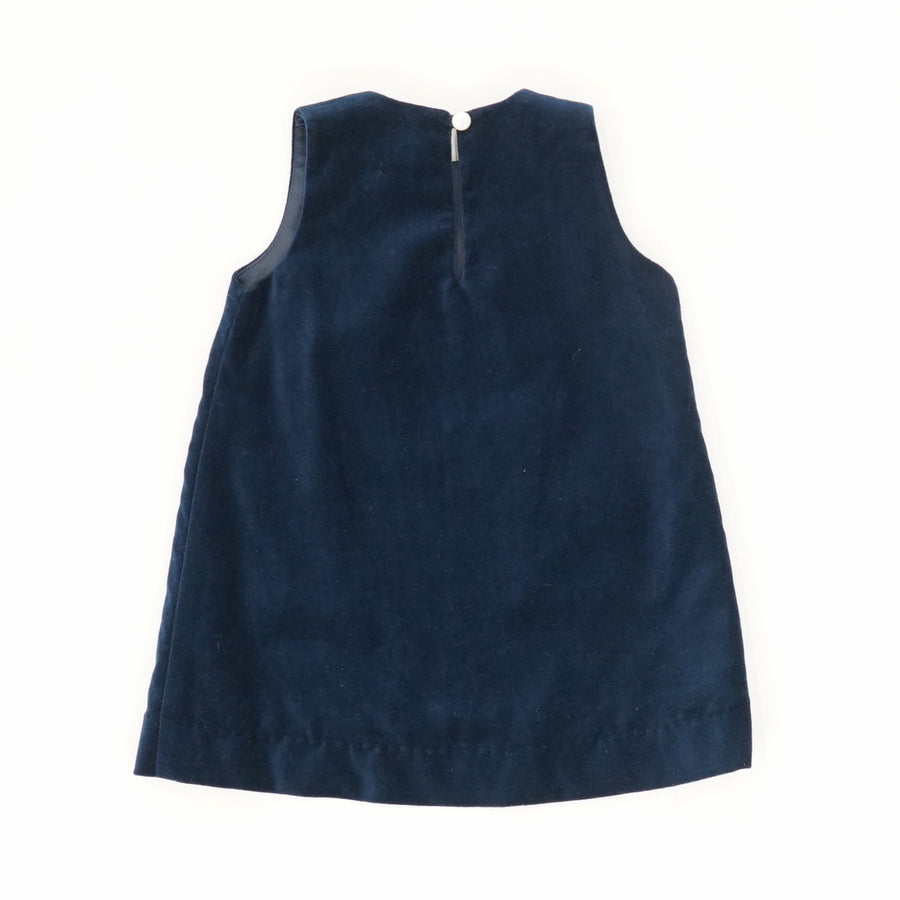 Velvet A-line Dress with Pockets - Size 3/6M