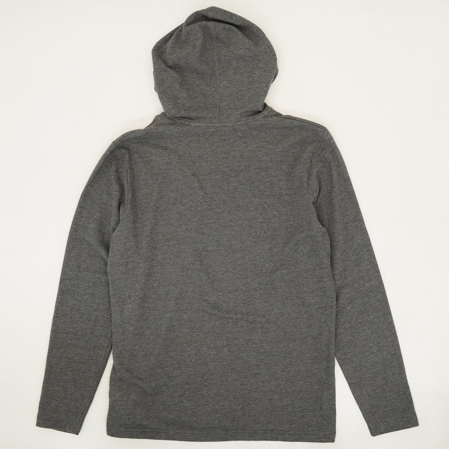Hooded 1/4-Button Pullover - Size M, L